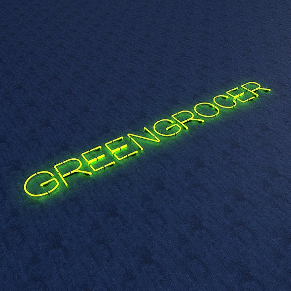Greengrocer Neon Sign - 3DOcean Item for Sale