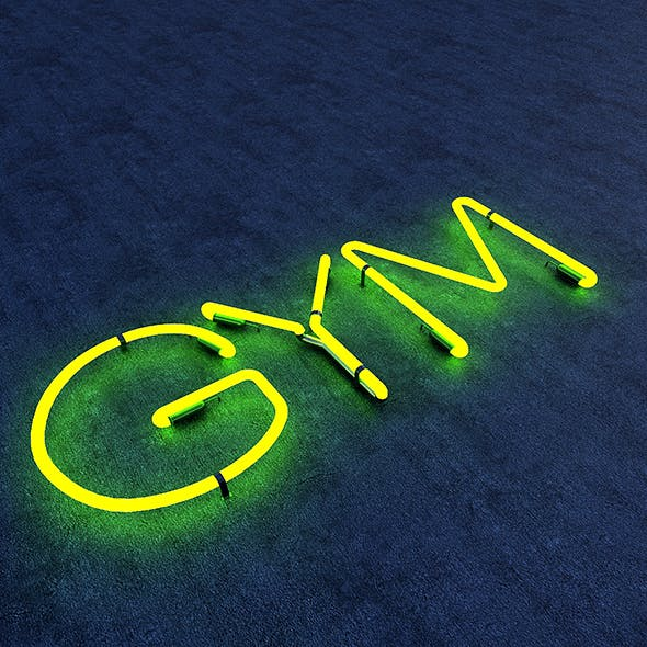 Gym Neon Sign - 3DOcean Item for Sale