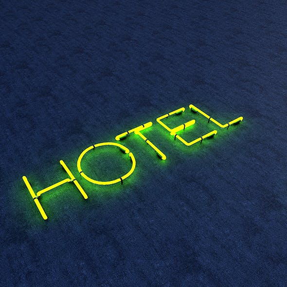 Hotel Neon Sign - 3DOcean Item for Sale