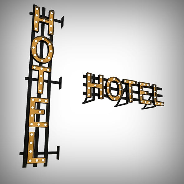 Hotel Bulb Sign - 3DOcean Item for Sale