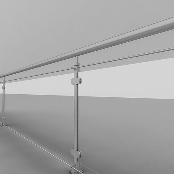 Iron & Glass Railing - 3DOcean Item for Sale