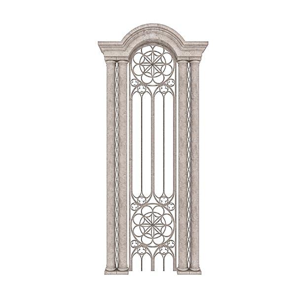 Classic Building Entrance 5 - 3DOcean Item for Sale