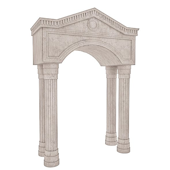 Classic Building Entrance 3 - 3DOcean Item for Sale