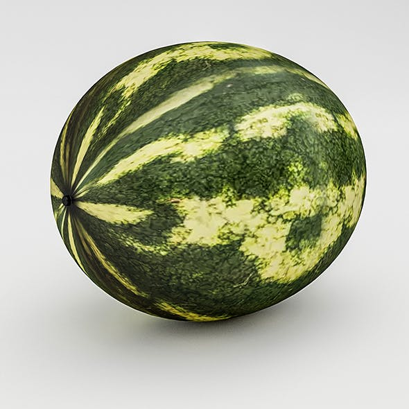 3D Watermelon Model - 3DOcean Item for Sale