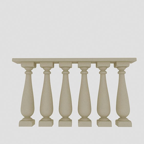 Classical Railing - 3DOcean Item for Sale