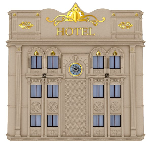 Classical Hotel Building - 3DOcean Item for Sale
