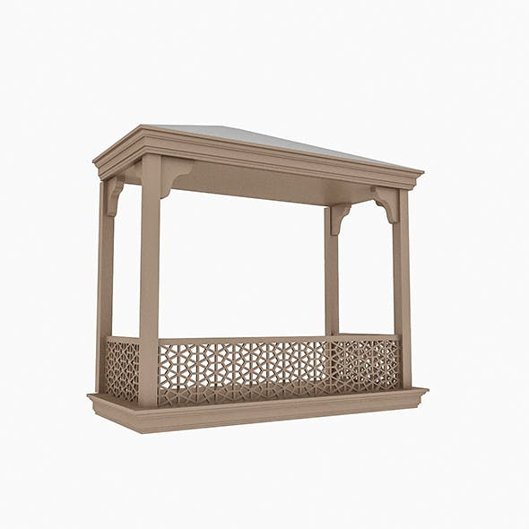 Wooden Balcony - 3DOcean Item for Sale