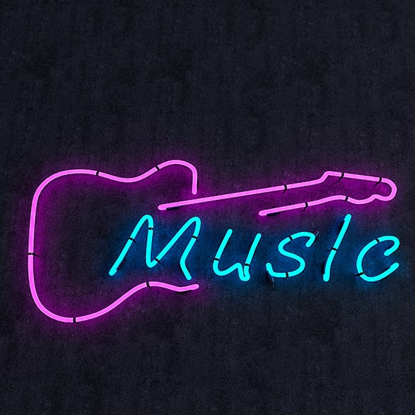 Music Neon Sign - 3DOcean Item for Sale