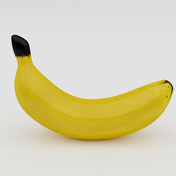 3D Banana Model - 3DOcean Item for Sale