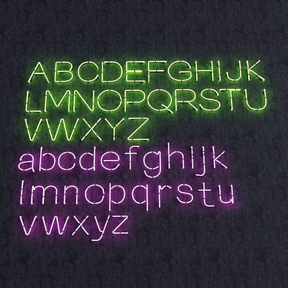 Neon Alphabet - 3DOcean Item for Sale