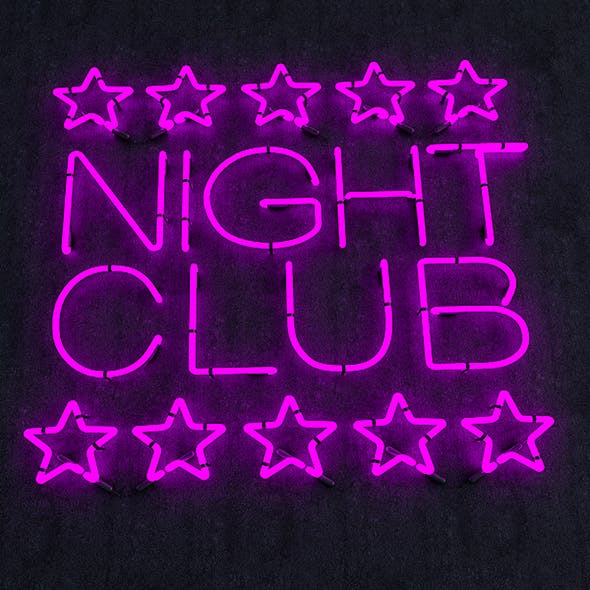 Night Club Neon Sign - 3DOcean Item for Sale