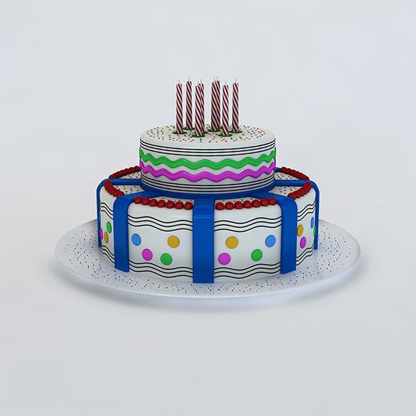Birthday Cake - 3DOcean Item for Sale