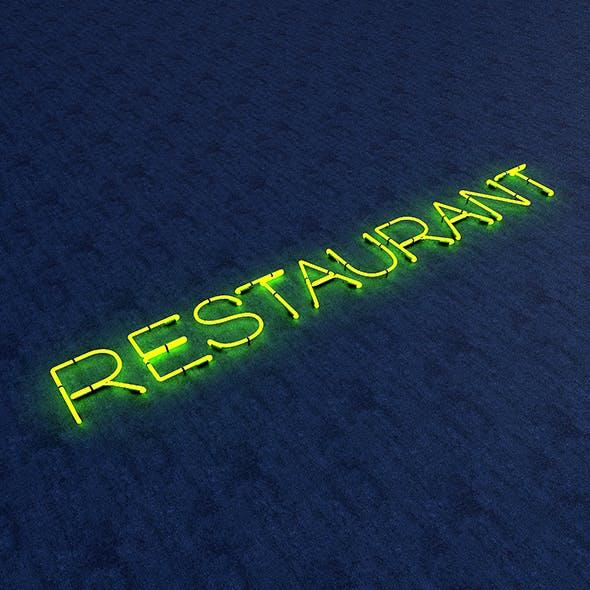 Restaurant Neon Sign - 3DOcean Item for Sale