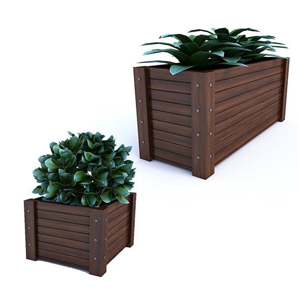 Outdoor Flower Pot - 3DOcean Item for Sale