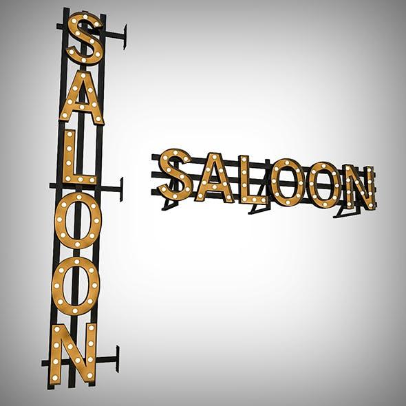 Saloon Bulb Sign - 3DOcean Item for Sale