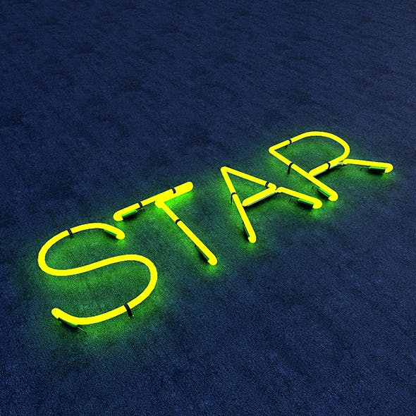 Star Neon Sign - 3DOcean Item for Sale