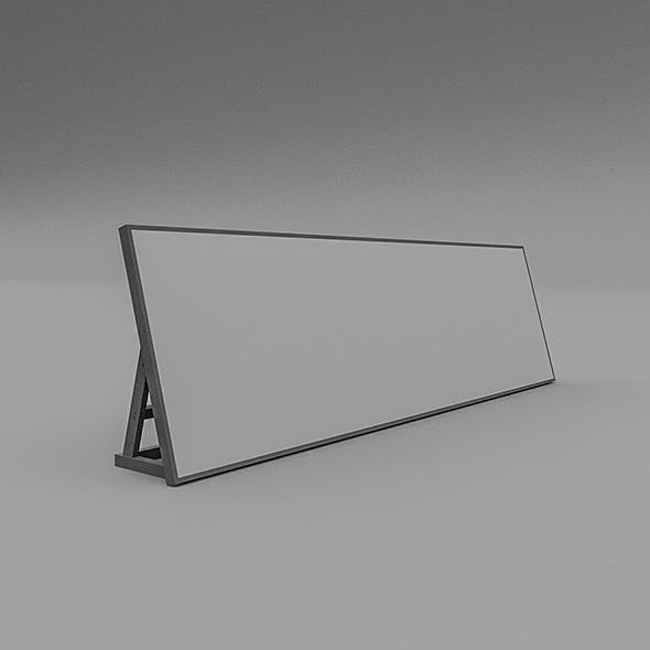 3D Floor Sign Model - 3DOcean Item for Sale