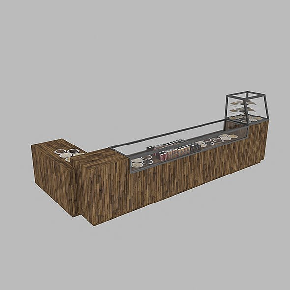 3D Cafe Counter - 3DOcean Item for Sale