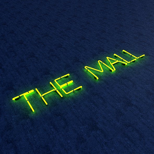 The Mall Neon Sign - 3DOcean Item for Sale