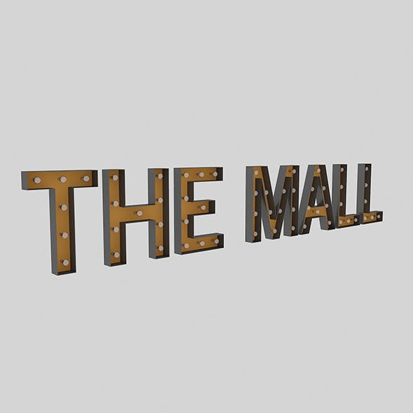The Mall Sign With Bulb - 3DOcean Item for Sale