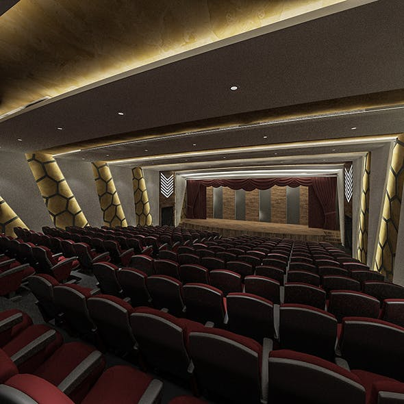Theater Hall Concept - 3DOcean Item for Sale