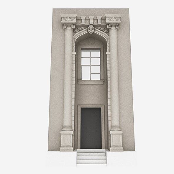 Classic Building Door System - 3DOcean Item for Sale