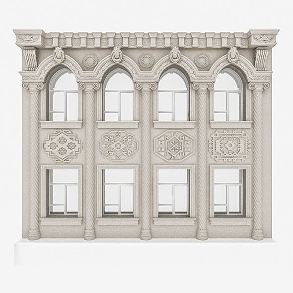 Classic Building Window System - 3DOcean Item for Sale