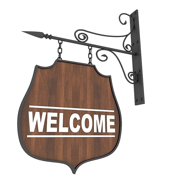 Welcome Sign - 3DOcean Item for Sale