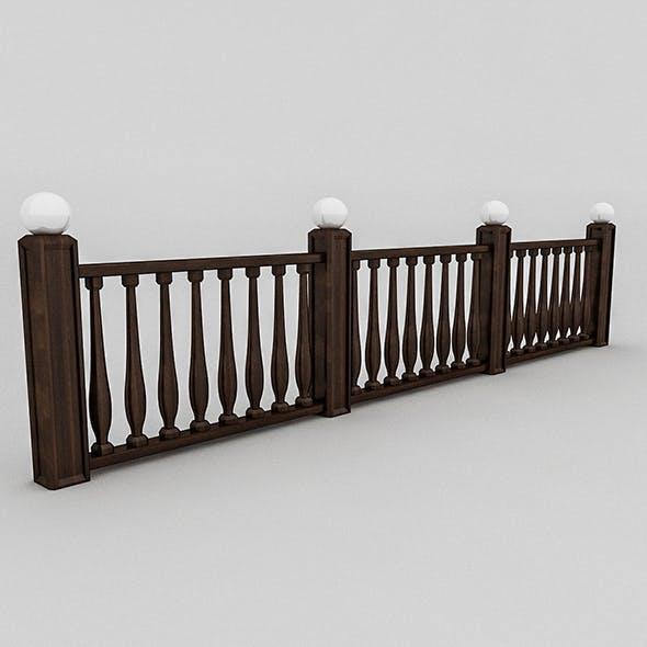 wood railing (1) - 3DOcean Item for Sale