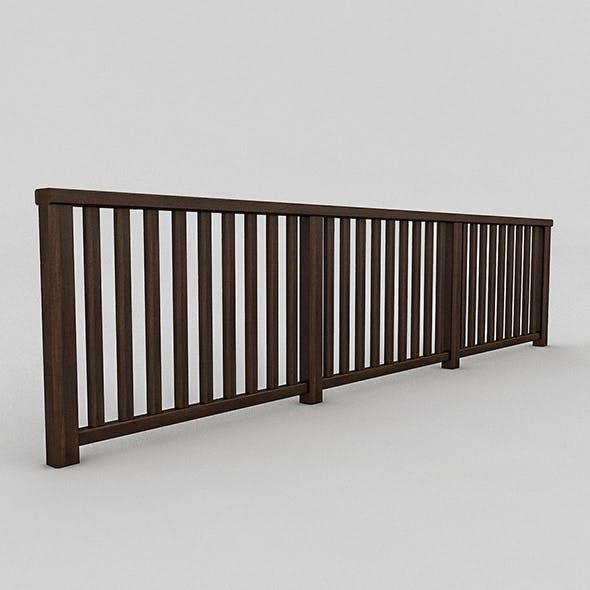 Wood Railing (2) - 3DOcean Item for Sale