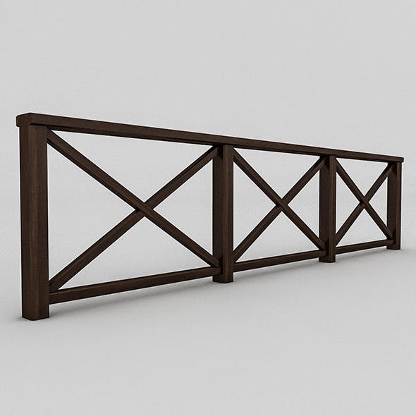 Wood Railing (3) - 3DOcean Item for Sale