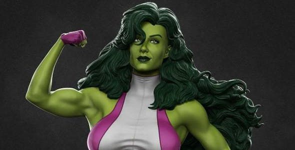 GIRL HULK 3D  MODEL BEAUTIFUL GAME OR CARTOON CHARACTER - 3DOcean Item for Sale