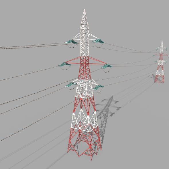 Electricity Pole 32 - 3DOcean Item for Sale
