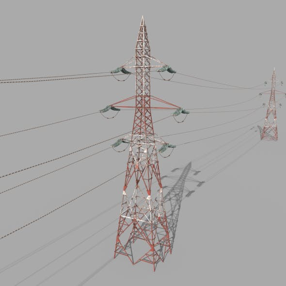 Electricity Pole 32 Weathered - 3DOcean Item for Sale