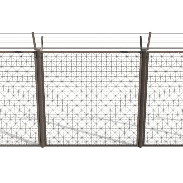 Low Poly Modular Fence 1
