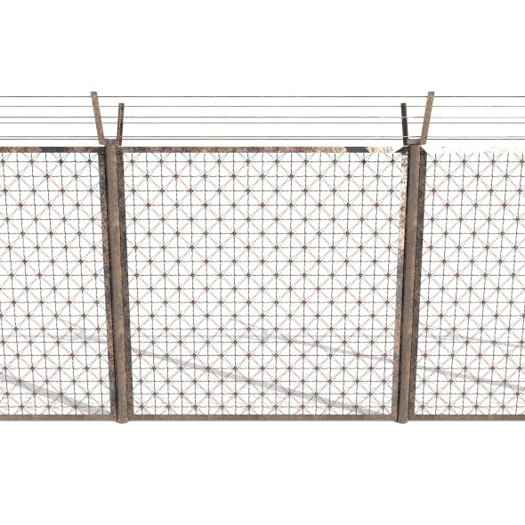 Low Poly Modular Fence 2 - 3DOcean Item for Sale