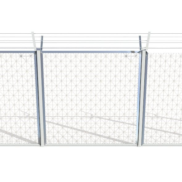 Low Poly Modular Fence 3 - 3DOcean Item for Sale