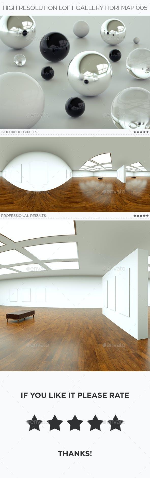 High Resolution Loft Gallery HDRi Map 005 - 3DOcean Item for Sale