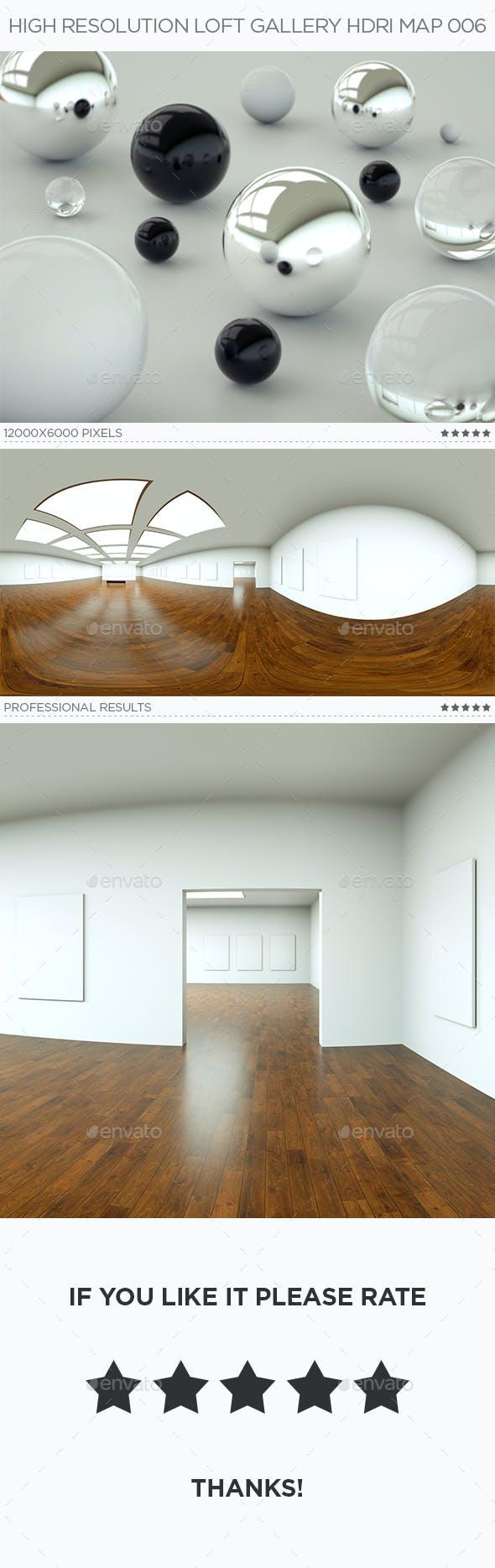 High Resolution Loft Gallery HDRi Map 006 - 3DOcean Item for Sale
