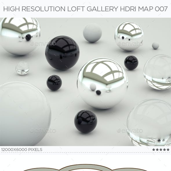 High Resolution Loft Gallery HDRi Map 007