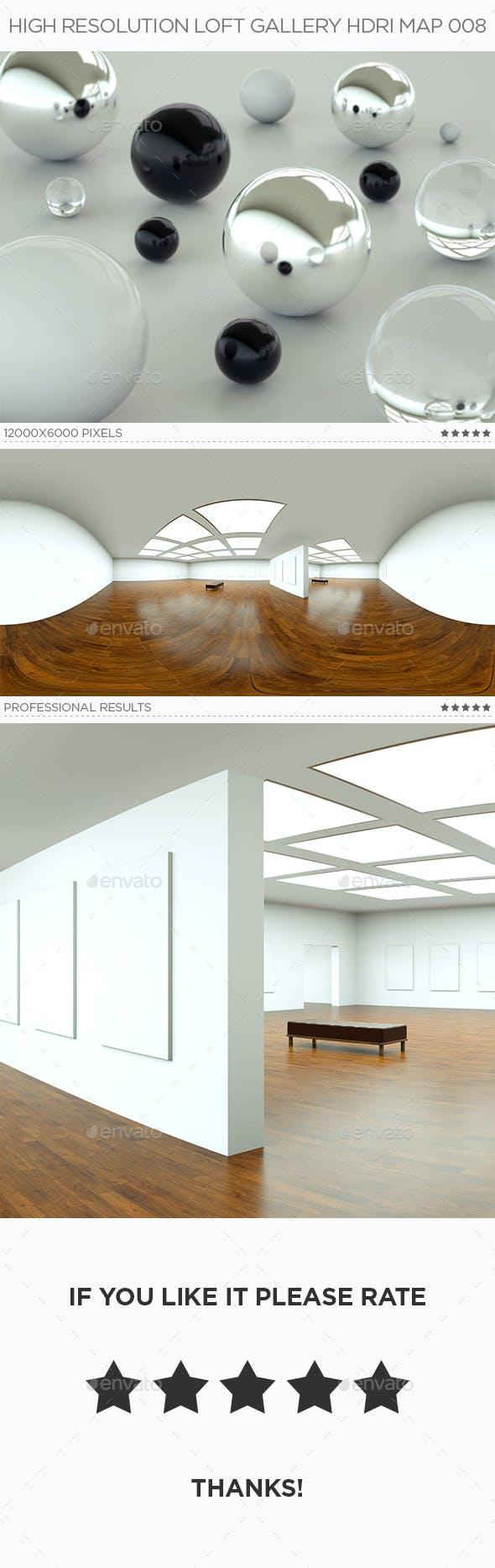 High Resolution Loft Gallery HDRi Map 008 - 3DOcean Item for Sale