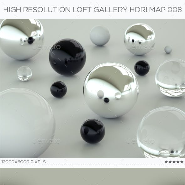 High Resolution Loft Gallery HDRi Map 008