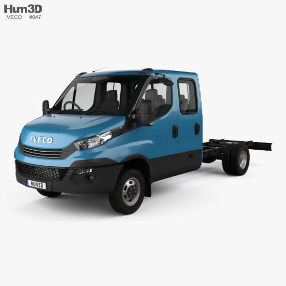 Iveco Daily Dual Cab Chassis 2017 - 3DOcean Item for Sale