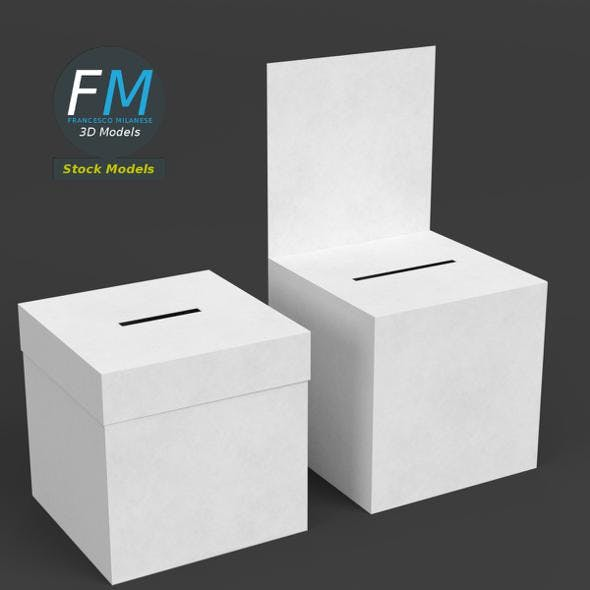 Ballot boxes - 3DOcean Item for Sale