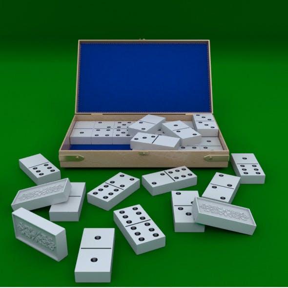 Domino Bones With Case