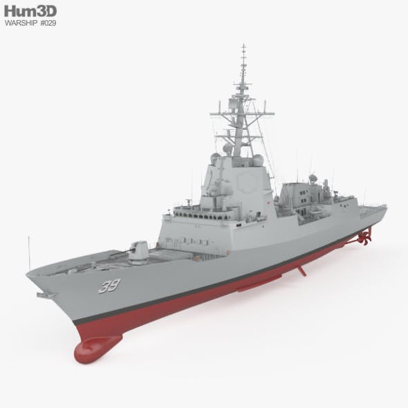Hobart-class destroyer - 3DOcean Item for Sale