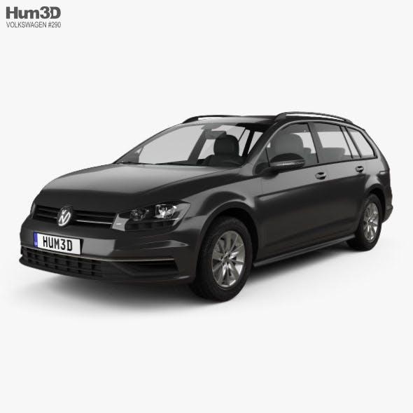 Volkswagen Golf variant Comfortline 2017 - 3DOcean Item for Sale