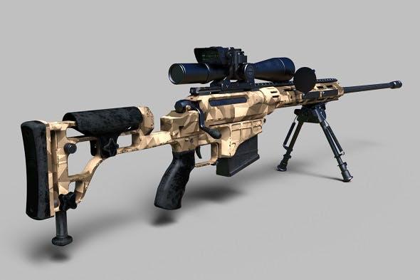 338 Lapua Magnum sniper rifle - 3DOcean Item for Sale