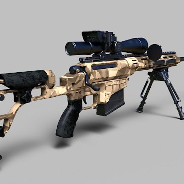 338 Lapua Magnum sniper rifle