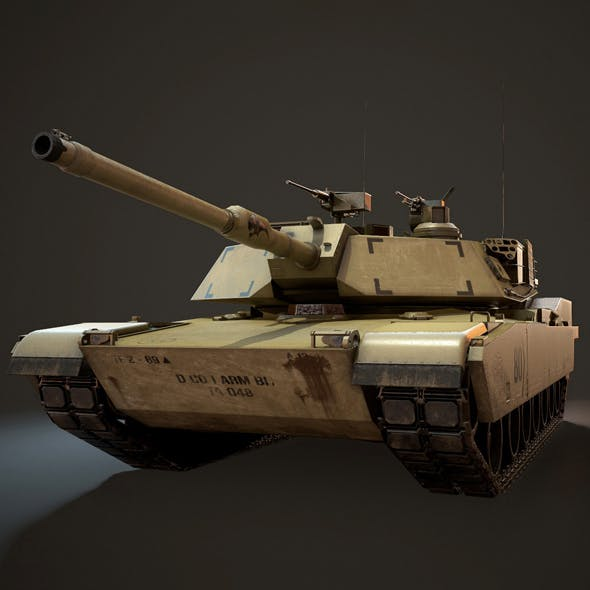 M1A1 Abrams Tank - Low Poly